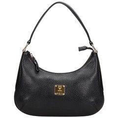 MCM Black Leather Shoulder Bag