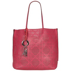 Dior	Pink	Perforated Dioriva Tote