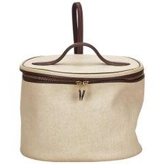 Hermes Ivory and Brown Intercity Vanity Bag