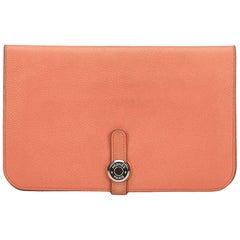 Hermes Pink Togo Dogon Calfskin Wallet