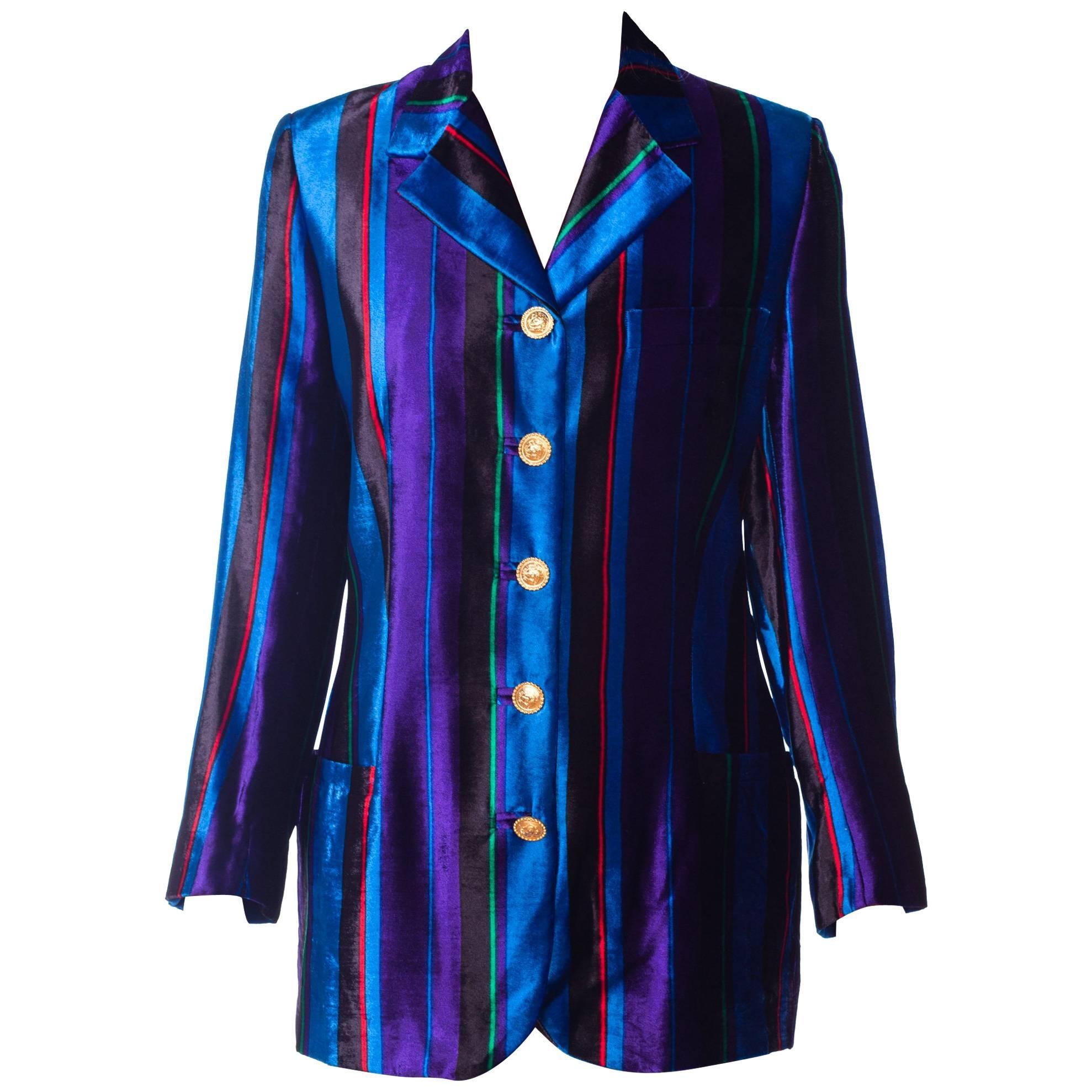 Gianni Versace Couture Striped Velvet Blazer, Fall 1993