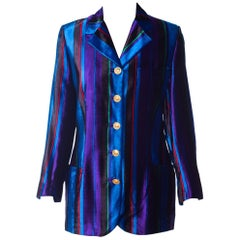 Gianni Versace Couture Striped Velvet Blazer, Fall 1993
