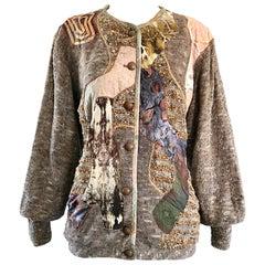 Amazing 1980s Crochetta French Patchwork Vintage Cardigan Sweater 80s Jacket