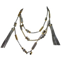 Iconic Louis Vuitton Multi Rangs Jazz Necklace Silver &Gold & Swarovski Crystal