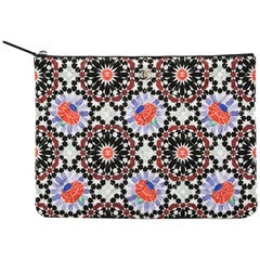 CHANEL Clutch in Multicolor Quilted Canvas