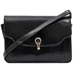 GUCCI Vintage Bag in Black Snake