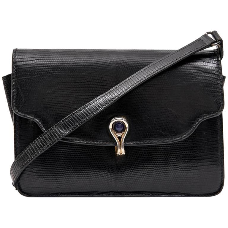 27536feb4d0 GUCCI Vintage Bag in Black Snake For Sale at 1stdibs