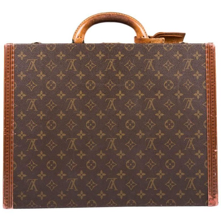Louis Vuitton President Brown Monogram Canvas and Leather Briefcase