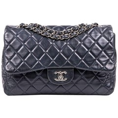 CHANEL Jumbo Bag in Soft Navy Quilted Leather
