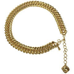 YVES SAINT LAURENT Couture Vintage Belt in Big Golden Chain