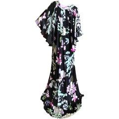 Leonard Paris Vintage Cape Back Caftan Dress