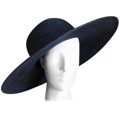 Yohji Yamamoto Vintage Wide Brim Straw Portrait Hat