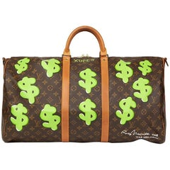 1987 Louis Vuitton Hand Painted 'Benjamin$ Baby' Keepall Bandouliere 55