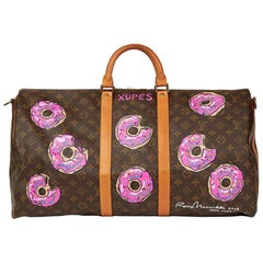 Louis Vuitton Hand-Painted '$weet Tooth' Keepall Bandouliere 55