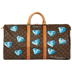 Louis Vuitton Hand-Painted 'Hei$t' Keepall Bandouliere 55