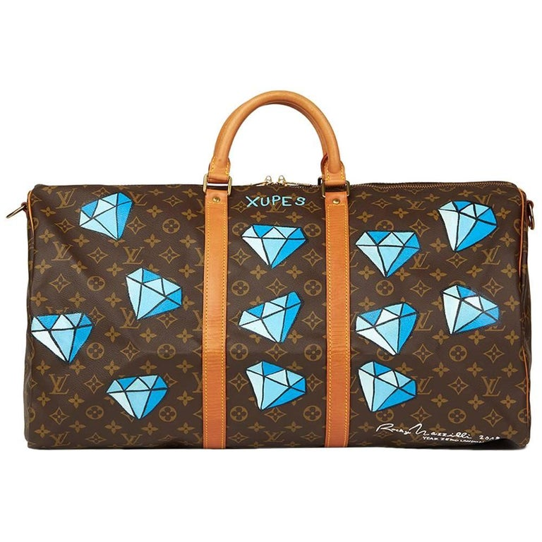 f9ebe60b6ad Louis Vuitton Hand-Painted  Hei t  Keepall Bandouliere 55