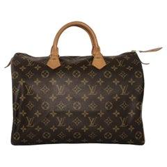 Louis Vuitton Monogram Speedy 35 Top Handle Satchel Handbag