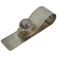 Hermes by Ravinet Denfert Stainless Silver Plated Golf Ball  Paper Holder