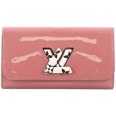 Louis Vuitton Twist Wallet Patent with Monogram Canvas