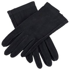Roeckl Munich Black Unworn Vintage Suede Gloves