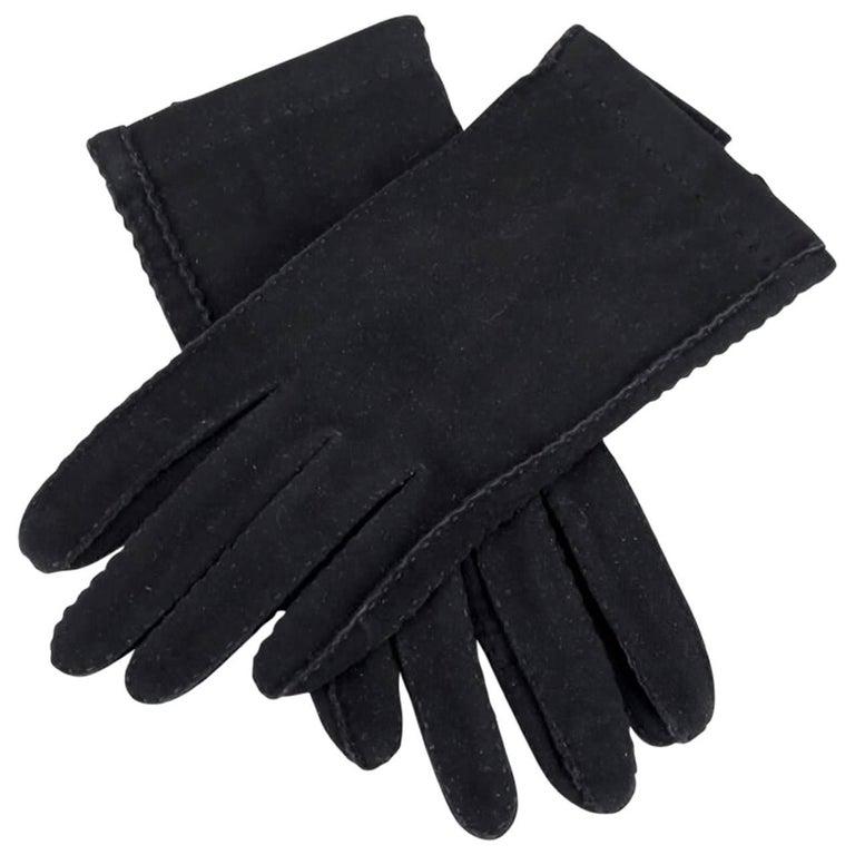 Roeckl Munich Black Unworn Vintage Suede Gloves