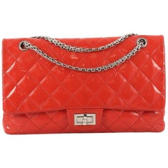 Chanel Reissue 2.55 Handbag Quilted Patent 227