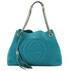 Gucci Soho Chain Strap Shoulder Bag Nubuck Medium