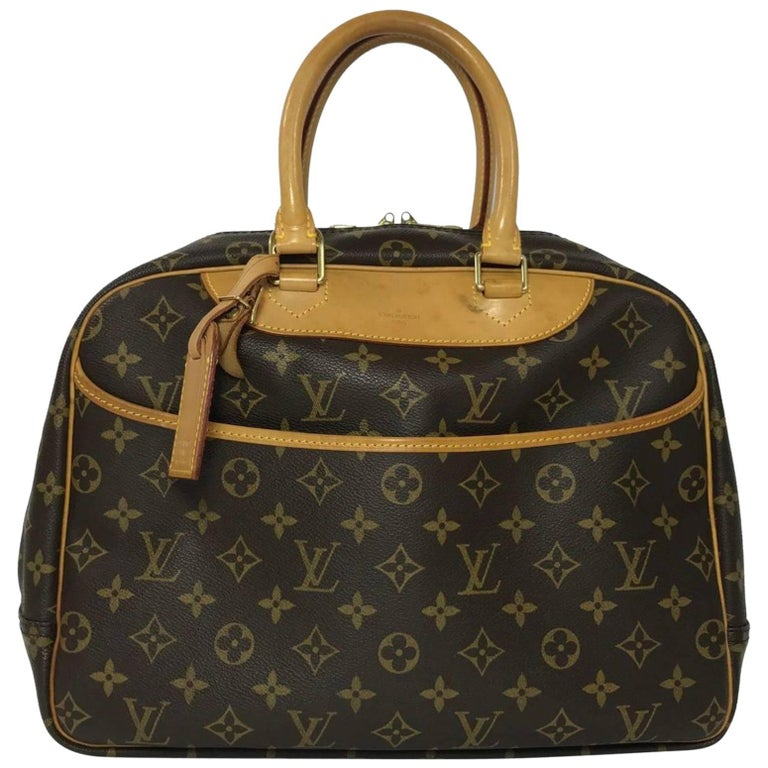 Louis Vuitton Monogram Deauville Satchel Travel Handbag