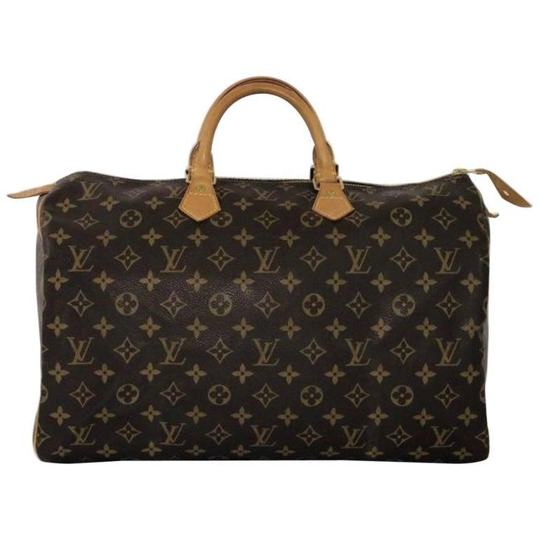 Louis Vuitton Monogram Speedy 40 Top Handle Satchel Handbag