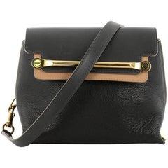 Chloe Bicolor Clare Handbag Leather Small