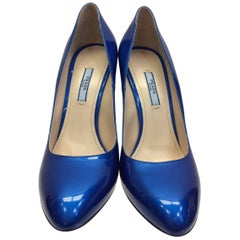 Prada Royal Blue Patent Leather Pump