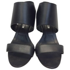 Manolo Blahnik Black Leather Heels