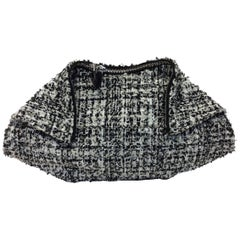 Alexander McQueen Black and White Tweed De Manta Clutch