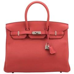 New Hermès Bougainvillea Togo 35cm Birkin