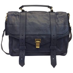 Proenza Schouler Navy Blue Leather Messenger Bag NWT