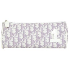 Christian Dior Purple Canvas Diorissimo Monogram Cosmetic Case