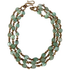 Goossens Paris Fluorine Triple Row Necklace