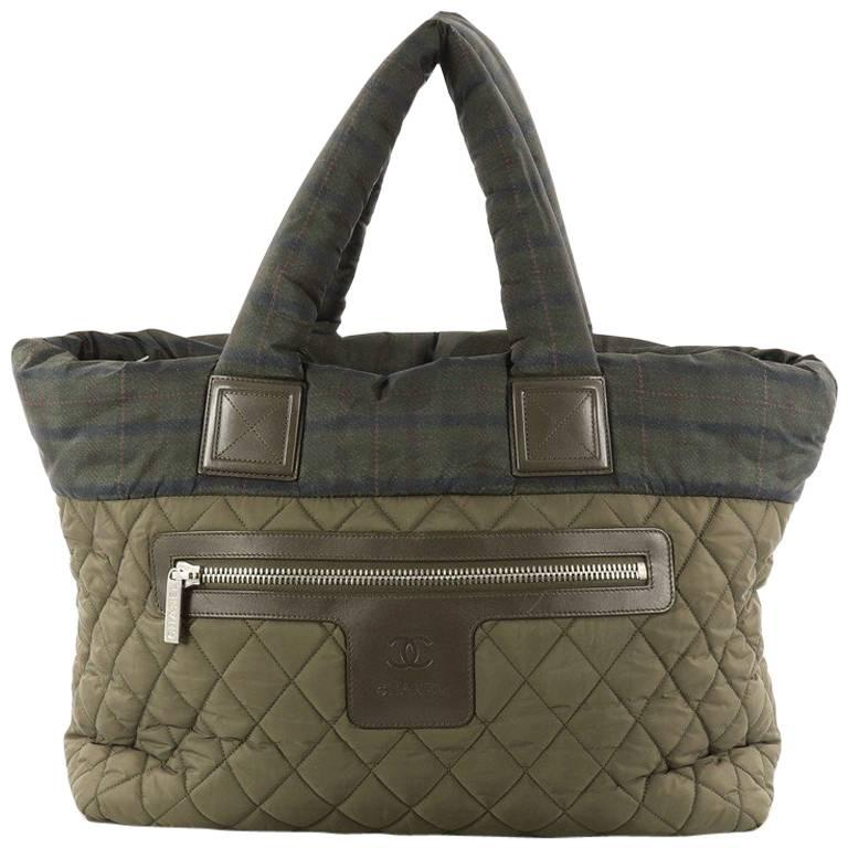 Chanel Coco Cocoon Zipped Tote Quilted Nylon Large