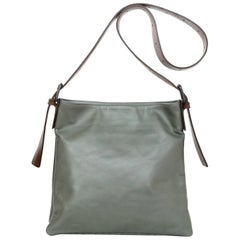 Bottega Veneta Olive Green Leather Crossbody Bag with Dust Bag