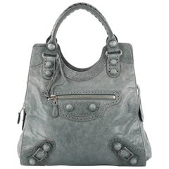 Balenciaga Folder Covered Giant Brogues Handbag Leather