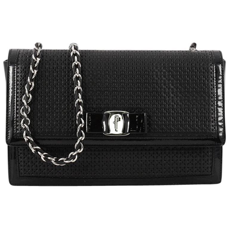 3e1abf25af Salvatore Ferragamo Ginny Crossbody Bag Laser Cut Leather Medium For Sale