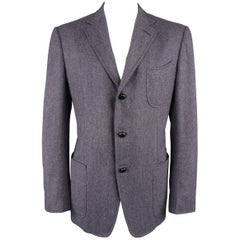 Tom Ford Men's Light Purple Herringbone Wool / Cashmere Sport Coat