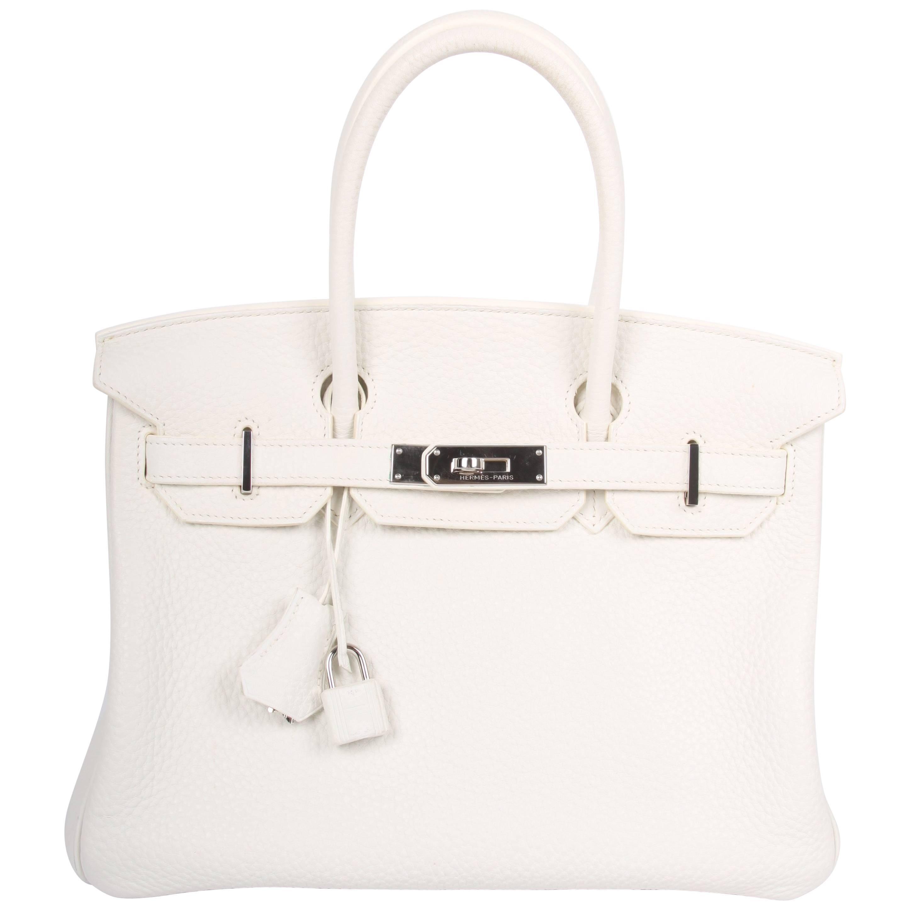 d8b5e46923 Hermes white Birkin 30 Bag at 1stdibs