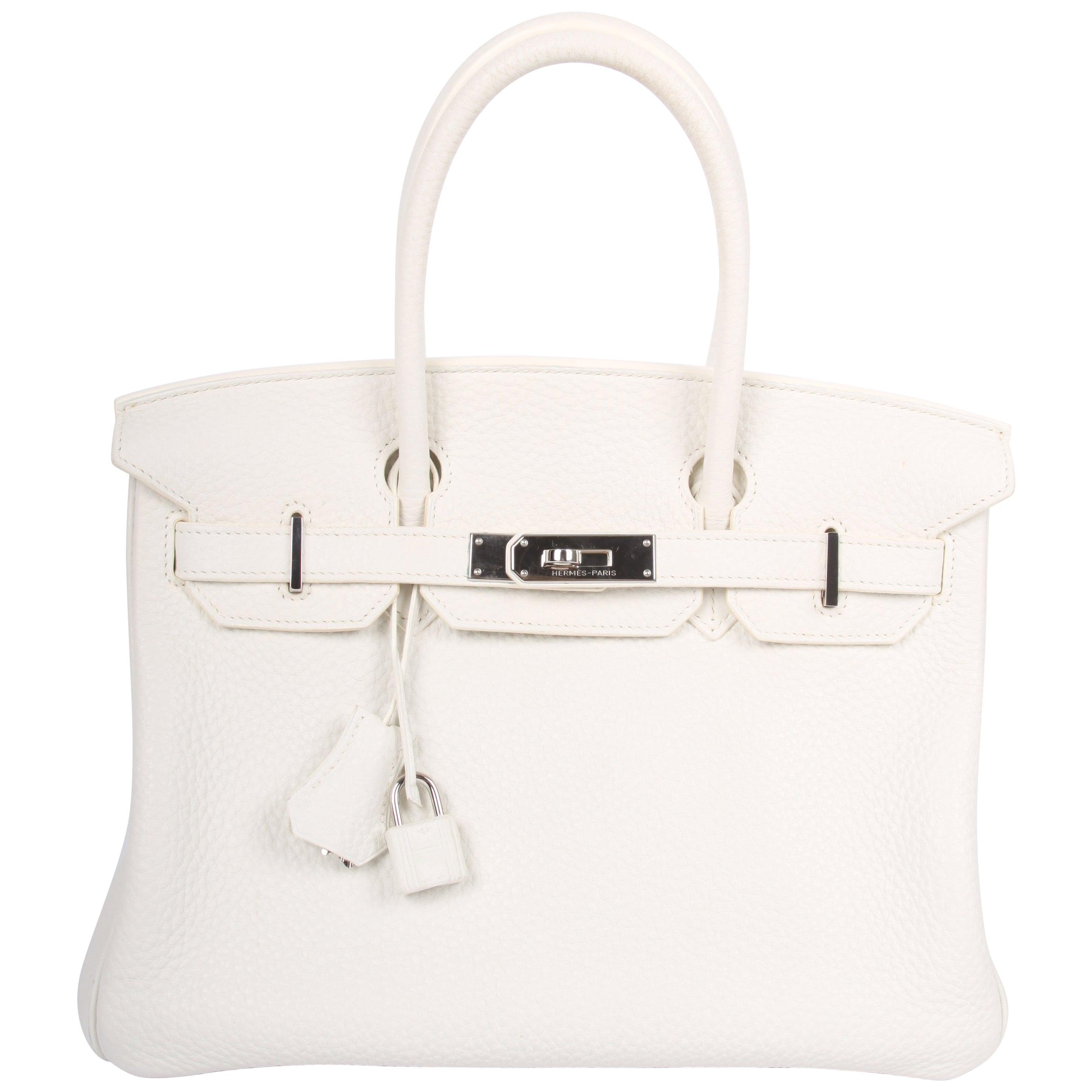 11c7cac120 Hermes white Birkin 30 Bag at 1stdibs