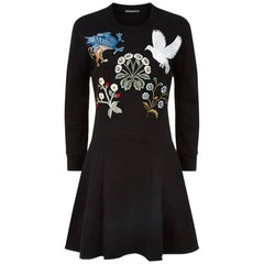 Alexander McQueen Medieval Embroidered Sweatshirt Dress