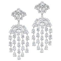 Magnificent Costume Jewelry Diamond Waterfall Chandelier Earrings