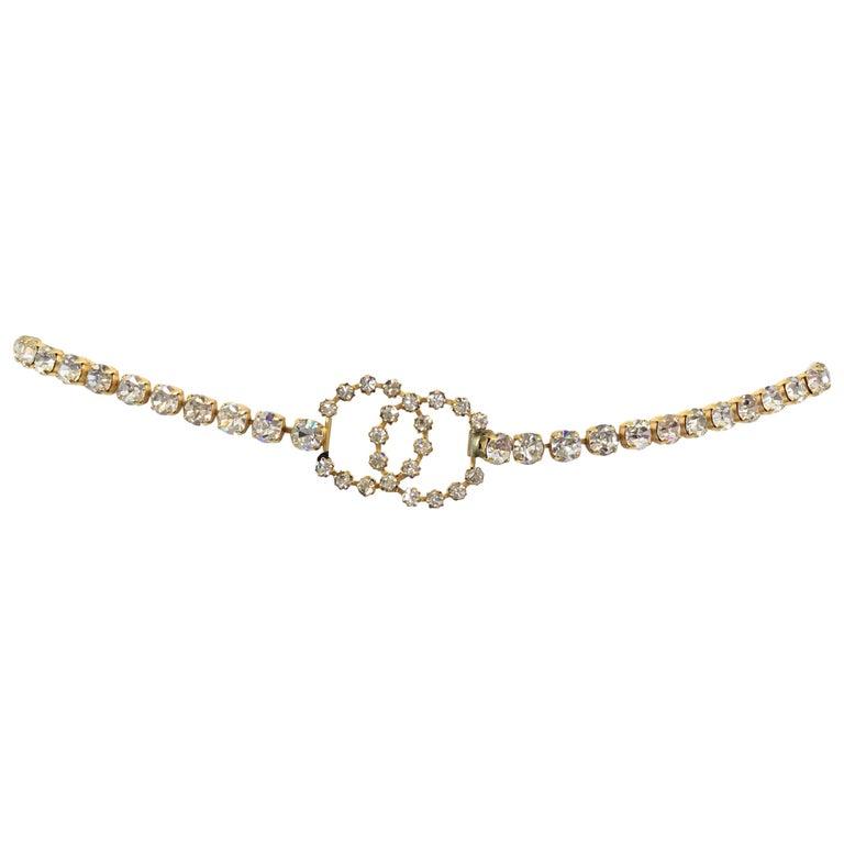Chanel 1995 A Rhinestone CC Belt
