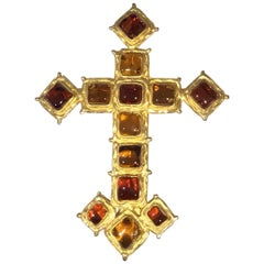 Chanel Goosens Pate 1970s Cross Brooch / Pendant