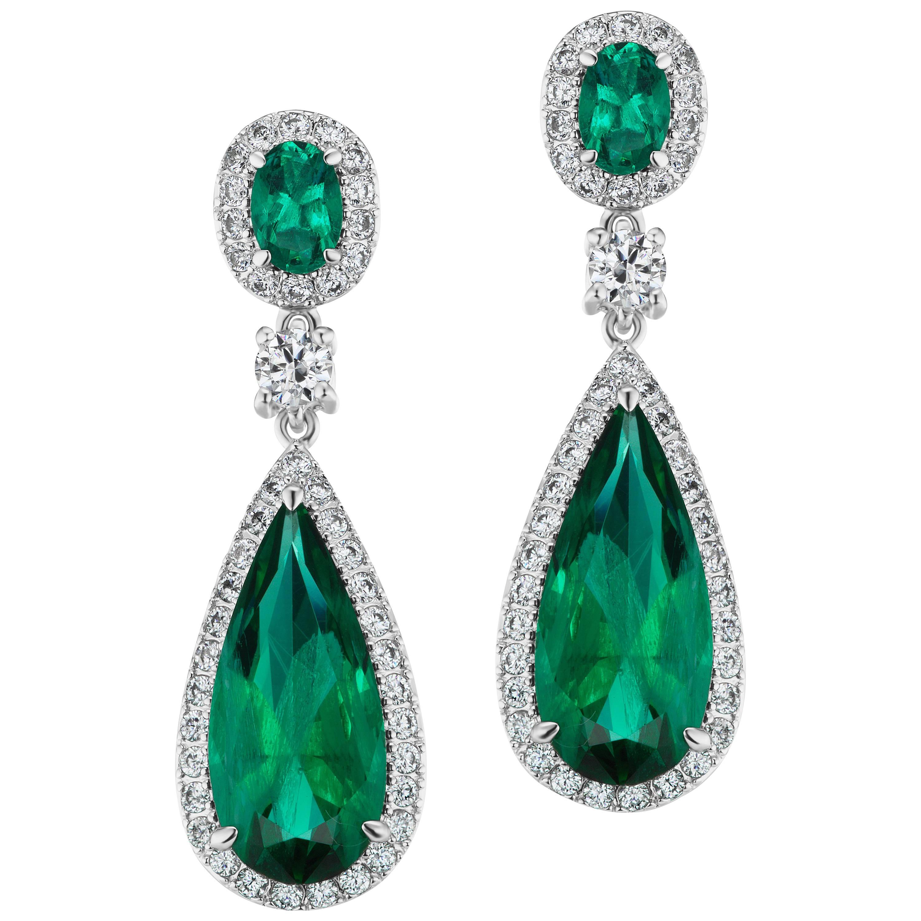 Magnificent Costume Jewelry Emerald Diamond Earrings For Sale  sc 1 st  1stDibs & Magnificent Costume Jewelry Emerald Diamond Earrings For Sale at 1stdibs
