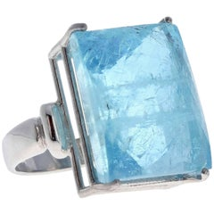 43.4 Carat Aquamarine in Sterling Silver Ring